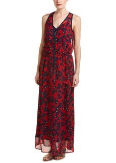 Nanette Lepore Front Zip Silk Maxi Dress