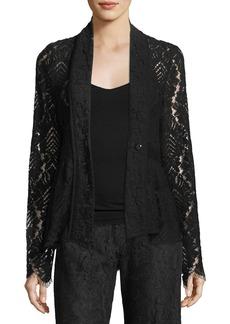 Nanette Lepore Genevieve One-Button Lace Jacket