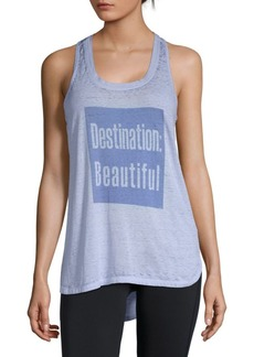 Nanette Lepore Graphic Hi-Lo Tank Top