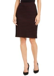 Nanette Lepore Grid-Print Pencil Skirt
