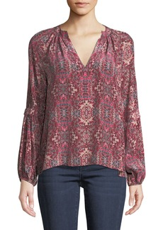 Nanette Lepore Hideout Long-Sleeve Top in Silk