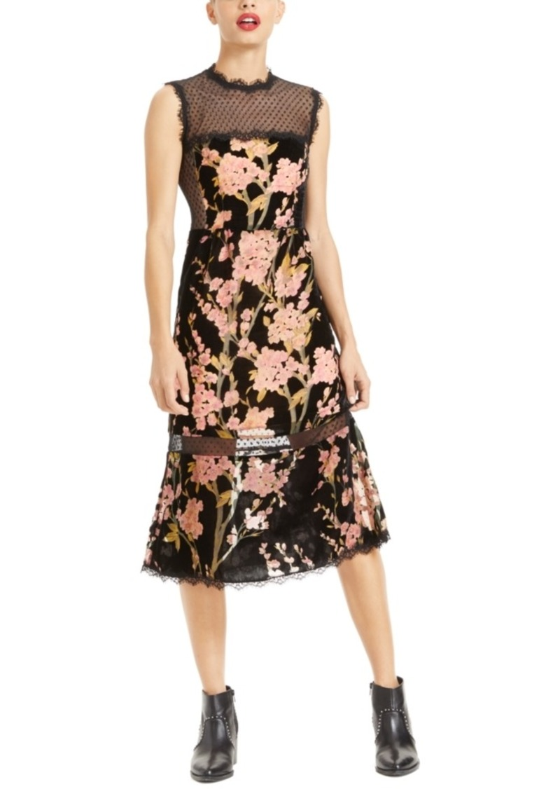 Nanette Lepore Illusion Floral-Print Midi Dress