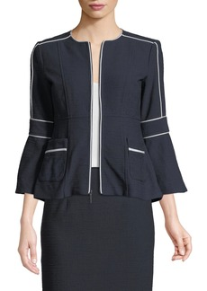 Nanette Lepore Jazz Zip Jacket w/ Contrast Piping