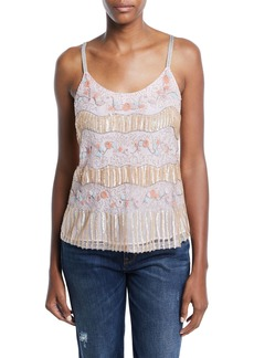 Nanette Lepore Juliet Scoop-Neck Beaded Cami Top