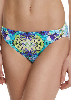 Nanette Lepore Kamari Reflection Charmer Gathered-Side Swim Bottom