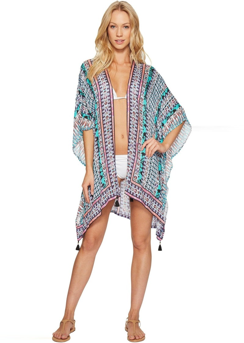 77571c4410 Nanette Lepore Nanette Lepore Kimono Patchwork Kimono Cover-Up ...