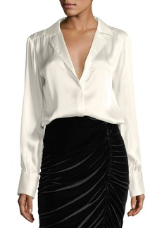 Nanette Lepore La Lune Long-Sleeve Silk Blouse