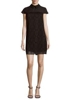 Nanette Lepore Lace Cap-Sleeve Shift Dress
