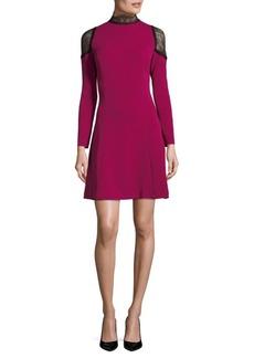 Nanette Lepore Lace-Trim A-Line Dress