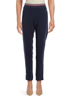 Nanette Lepore Laser Cut Cotton-Blend Track Pants