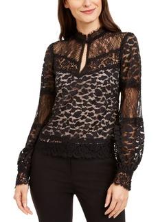 Nanette Lepore Leopard-Lace Top
