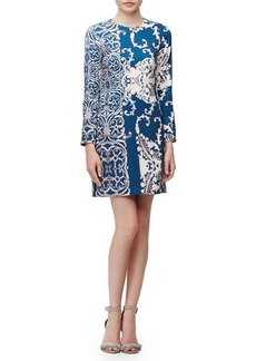 Nanette Lepore Long-Sleeve Paisley-Print Dress