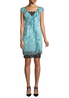 Nanette Lepore Lucious Illusion Lace Mini Dress