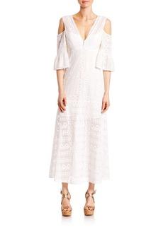 Nanette Lepore Merengue Cold-Shoulder Maxi Dress
