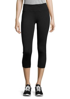 Nanette Lepore Mesh Panelled Cropped Performance Leggings