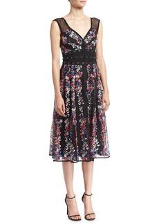 Nanette Lepore Michelle Floral-Embroidered Studded Cocktail Dress