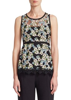 Nanette Lepore Midsummer Embroidered Sleeveless Top