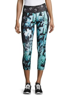 Nanette Lepore Mixed Print Capri Athletic Leggings