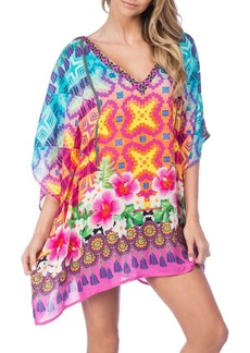 Nanette Lepore Mixed-Print Coverup Tunic