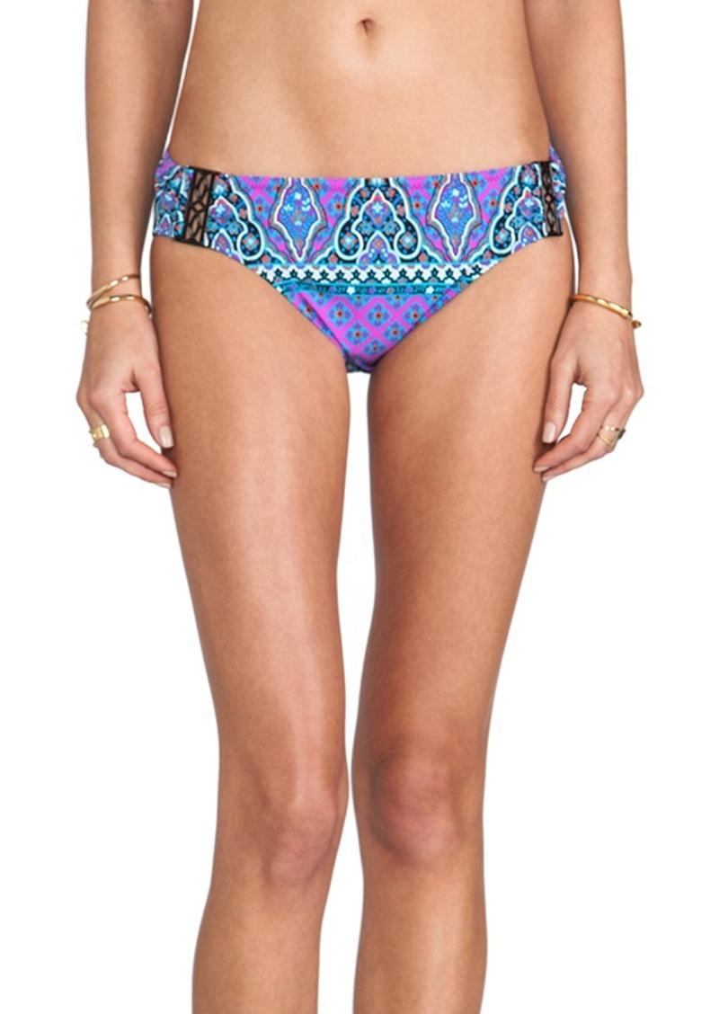 Nanette Lepore Moroccan Medallion Nymph Bikini Bottoms in Purple
