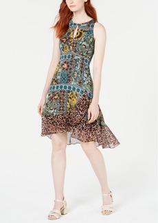 Nanette Lepore Multi-Print Chiffon-Hem Dress, Created for Macy's
