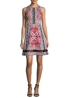 Nanette Lepore Overboard Paisley Cross-Back Dress