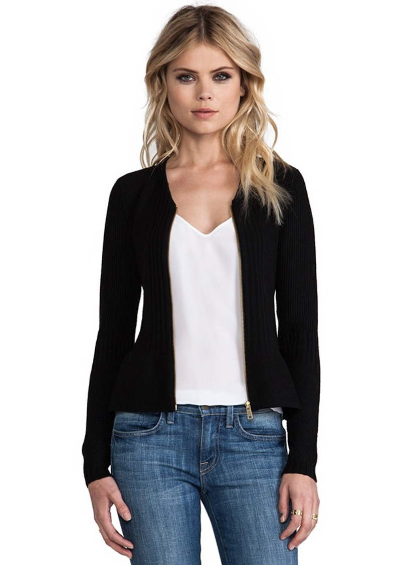 Nanette Lepore Ozone Knits Halo Cardigan in Black