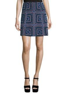 Nanette Lepore Patchwork A-Line Mini Skirt