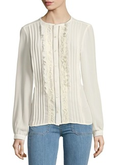 Nanette Lepore Pintuck Button-Down Shirt