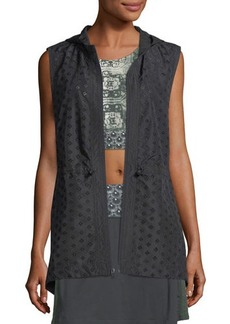 Nanette Lepore Play Embroidered Eyelet Vest