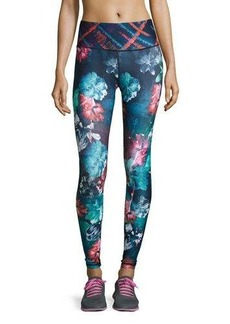 Nanette Lepore Play Graphic Floral-Print Performance Leggings
