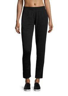 Nanette Lepore Play Lace-Trim Ankle Track Pants