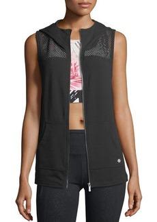 Nanette Lepore Play Mesh-Inset Hooded Vest