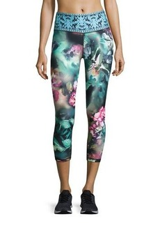 Nanette Lepore Play Orchid-Print Smoothe Leggings