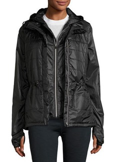 Nanette Lepore Play Packable Cinched-Waist Wind-Resistant Jacket