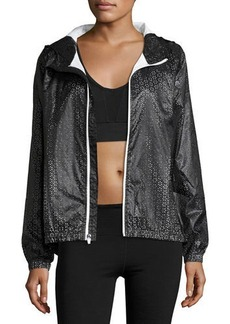 Nanette Lepore Play Perforated Packable Wind-Resistant Jacket