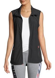 Nanette Lepore Play Ruched-Side Zip-Front Vest