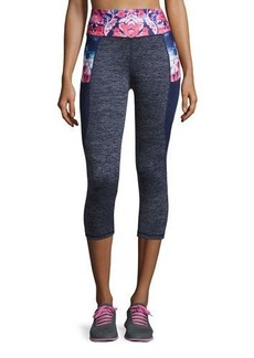 Nanette Lepore Play Washed Floral-Print Performance Leggings
