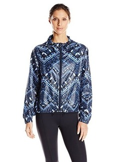 "Nanette Lepore Play Women's ""Batik"" Print Hi-Low Packable Windbreaker"