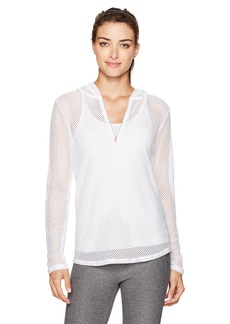 Nanette Lepore Play Women's Cotton Hand Mesh Hoodie  M