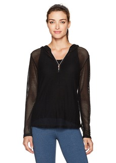 Nanette Lepore Play Women's Cotton Hand Mesh Hoodie  S