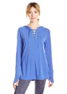 Nanette Lepore Play Women's Hooded Pullover W/Beaded Twill Tap D/s  M