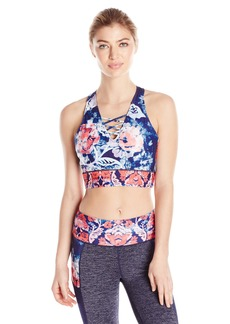 Nanette Lepore Play Women's Lace up Crop Top  XL