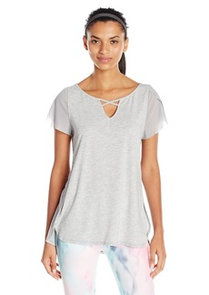Nanette Lepore Play Women's Lace up Flutter Sleeve Top  M