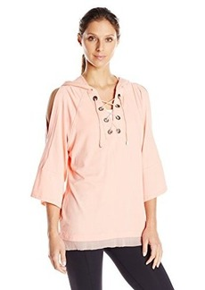 Nanette Lepore Play Women's Lace-Up Hoodie