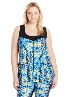 Nanette Lepore Play Women's Plus Size Lace Mesh Tank Size Mayan XL