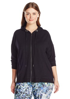 Nanette Lepore Play Women's Plus Sizetri-Blend French Terry Lace-up Jacket Size