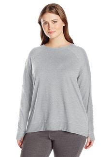 Nanette Lepore Play Women's Plus Sizetri-Blend French Terry Lacey Sweatshirt Size