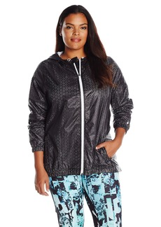 Nanette Lepore Play Women's Plus SizePerforated Packable Windbreaker Size