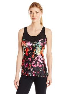 Nanette Lepore Play Women's Plus Sizesplash Palm Lace Mesh Tank Size  L